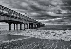Gloomy days (DaneGardner) Tags: blackandwhite dorset bournemouth boscombe clouds cloudsstormssunsetssunrises