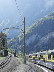 RD18931.  SPB near Wilderswil. (Ron Fisher) Tags: spb schynigeplattebahn rackrailway rail railway railroad eisenbahn chemindefer schmalspurbahn voieetroite narrowgauge narrowgaugerailway train transport publictransport zahnradbahn schweizerischeeisenbahnen schweiz dieschweiz lasuisse suisse switzerland swissrailways railwaysofswitzerland compactcamera eisenbahninderschweiz eisenbahneninderschweiz sony sonyrx100iii sonyrx100m3 ferrovia berneroberland kantonbern cantonbern berneroberlandbahn bob bahnhof gare station railwaystation metregauge meterspur 1000mmgauge 1000mmspur svizzera europa europe 800mmspur 800mmgauge