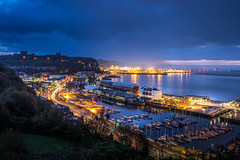 Dover in the morning light (andrew_camin) Tags: dover early docks light castle cliffs boats marina