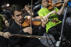 Violín primero (Guillermo Relaño) Tags: mendelssohn sueño noche verano especial pqee ¿porquéesespecial camerata musicalis teatro nuevoapolo madrid guillermorelaño sony a7 a7iii a7m3 violin ensayo orquesta orchestra