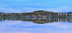 Over the river (johnny_9956) Tags: newport dundee fife river tay scotland city urban landscape outdoor outside 7d canon angus blue reflections
