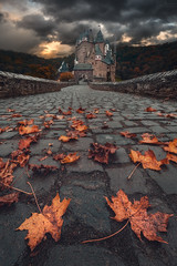 Dark version of Eltz Castle (steinmetznicolas) Tags: 2019 allemagne automne eltzcastle octobre germany autumn eltz castle dramatic dark landscape fuji fujifilm wide angle cloud xt2