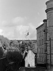 000100010025_18_Nik_DxO (Douglas Jarvis) Tags: architecture building film ilford hp5 halifax yorkshire mill dean clough nikon l35af