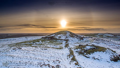 Cairn T sunset in snow (mythicalireland) Tags: snow sunset monument cairn megalithic