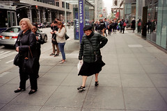 Old Woman walking (lb photographie) Tags: newyork newyorkcity contax color colorphotography film kodak argentique argentic street streetphotography old woman analogue
