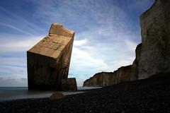Blockhaus (picsfromsomewhere) Tags: blockhaus bunker normandy normandie beton concrete plage falaise ww2