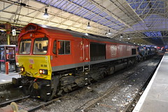 DB Cargo 66 (Will Swain) Tags: crewe station 3rd october 2019 cheshire north west south county train trains rail railway railways transport travel uk britain vehicle vehicles england english europe transportation class