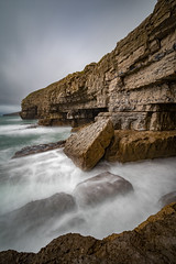 West Side of Dancing Ledge (chrisellis211) Tags: sea seascape landscape land storm england sky cliff rock purbeck swanage herston dancing ledge dancingledge longexposure nd1000 gobe filter canon 80d