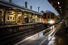 Southern Downpour (Andrew Shenton) Tags: 313202 class 313 shorehambysea southern rain station railway train
