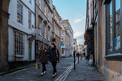 Queen Street, Bath (velodenz) Tags: velodenz fujifilmxt30 bath city aquaesulis banes bnes england unitedkingdom uk greatbritain gb queenstreet pedestrian women 1000views 1000 views