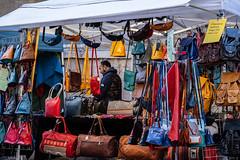 Leather Goods (velodenz) Tags: velodenz fujifilmxt30 bath city aquaesulis banes bnes england unitedkingdom uk greatbritain gb street stall leather goods bags