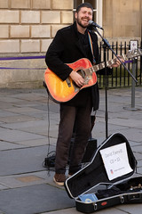 Outside the Pump Room, Bath (velodenz) Tags: velodenz fujifilmxt30 bath city aquaesulis banes bnes england unitedkingdom uk greatbritain gb street singer performer guitar player guitarrist