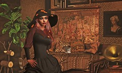 You can't go back unless you move forward first! (qzxr) Tags: secondlife shopping event gacha gachagarden gimmegacha doe antaya andore chez moi since1975 zoz pout shinystuffs semotion dustbunny maitreya lara skybox catwa autumn fall deer squirrel couch tapestry 1800s