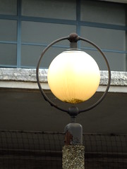 Lamp Post (failing_angel) Tags: 180519 london piccadillylinetour londonboroughofenfield charlesholden southgate undergroundstation adamsholdenandpearson londonpassengertransportboard frankpick
