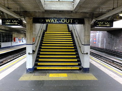 Way Out (failing_angel) Tags: 180519 london piccadillylinetour londonboroughofenfield arnosgrove charlesholden adamsholdenandpearson charleshutton frankpick