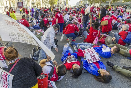 Die-In for Expanded Medical Insurance, San Francisco