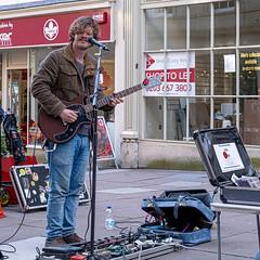 The Blues (velodenz) Tags: velodenz fujifilmxt30 bath city aquaesulis banes bnes england unitedkingdom uk greatbritain gb street singer performer electricguitar blues player guitarrist stevierayvaughan