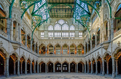 Hall for events Antwerp. 1531>1997 (capvera) Tags: architecture gothic bourse handelsbeurs antwerp renovation hall inside events colonnes acades coupole