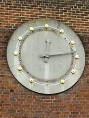 Parade Clock (failing_angel) Tags: 180519 london piccadillylinetour londonboroughofenfield charlesholden southgate undergroundstation adamsholdenandpearson londonpassengertransportboard frankpick