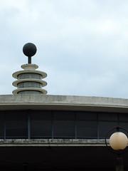 Southgate Globes (failing_angel) Tags: 180519 london piccadillylinetour londonboroughofenfield charlesholden southgate undergroundstation adamsholdenandpearson londonpassengertransportboard frankpick