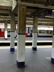 Platform Pillars (failing_angel) Tags: 180519 london piccadillylinetour londonboroughofenfield arnosgrove charlesholden adamsholdenandpearson charleshutton frankpick