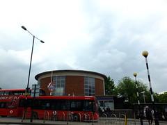 Bus and Tube (failing_angel) Tags: 180519 london piccadillylinetour londonboroughofenfield arnosgrove charlesholden adamsholdenandpearson charleshutton frankpick