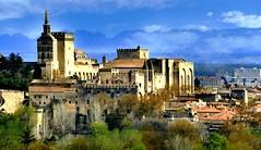 Avignon (Vaucluse, Provence, Fr) – Le Palais des Papes vu de Villeneuve-lez-Avignon (caminanteK) Tags: avignon vaucluse provence palaisdespapes lumère patrimoinemondial unesco