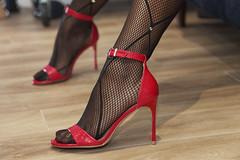 High heeled sunday evening (Ysée de France) Tags: highheels heels stilettos spikeheels feet nails fetish red tights fishnets