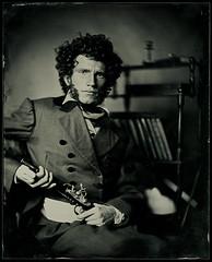 ASP (burdesign) Tags: studio broncolor petzval portrait ambrotype wetplate collodion largeformat bw