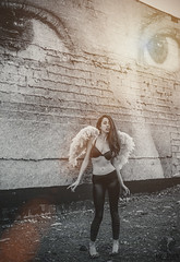 Angel Eyes (Luv Duck - Thanks for 16M Views!) Tags: select katherine brunette beautifulgirl beautifulbody angel angelic angelwings graffiti alaskangirls anchorage spenard photoshoot akmodel modeling