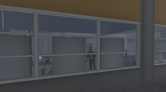 Zombie peekaboo (Finn SL) Tags: riff airport second life sl halloween mainland satori zombies apocalypse outbreak