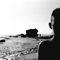 ... (johnny walker no label) Tags: bw film seascapes kids portrtaits