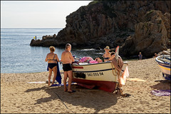 On  The Beach   Blanes, Catalonia (Flemming J. Gade) Tags: family vacation beach bikini sea rocks sand blanes catalonia
