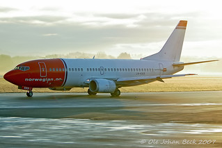 Norwegian B737-3Y0 LN-KKR at ENZV/SVG 19-11-2007