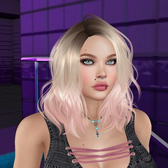 High Hopes (Spanky SL *Owner of Tastic store*) Tags: tastic spankysl backdropcove magika izzies rebellion hotfuss black purple blue pink blonde blond catwa maitreya lara mesh bento firestorm sl secondlife picture photo inside stairs glam affair aviglam
