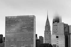 United Nations (©skarson) Tags: unitednations un blackandwhite bw leefilters longexposure queens manhattan newyork usa america black white sky light canon canoneos6d canoneos6dmrkii 6d canonef135mmf2l 135mm eos chryslerbuilding