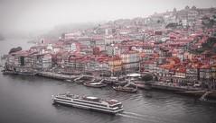 Ribeira, Porto on a foggy day (Ula P) Tags: ribeira porto portugal fog foggyday oldtown boats river sony sonynex sonyalpha