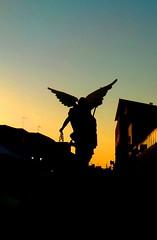Procession   Ph. by #WhiteAngel  Ref. DSCN0142 (Angel & Jacob) Tags: whiteangel michael michele michaelarchangel mistic spiritual controluce mikael arcangelomichele archangel chiaroscuro silhouette figura chineseshadow ombra ombracinese angelo angel contrasto contrastata contrast contrasted procession stuatue statua nophotoshop