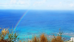 Hawaiian Rainbow from Diamond Head - Oahu, Hawaii (J.L. Ramsaur Photography) Tags: jlrphotography nikond7200 nikon d7200 photography photo oahuhi 25thanniversary honolulucounty hawaii 2019 engineerswithcameras islandsofhawaii photographyforgod hawaiianislands islandphotography screamofthephotographer ibeauty jlramsaurphotography photograph pic oahu tennesseephotographer oahuhawaii 25years anniversarytrip bucketlisttrip thegatheringplace 3rdlargesthawaiianisland 20thlargestislandintheunitedstates therainbowstate seascape oceanview seashore wherethemapturnsblue ocean bluewater blueoceanwater sea waves pacificocean rainbow godspromise landscape hawaiianlandscape nature outdoors god'sartwork nature'spaintbrush god'screation beautifulsky whiteclouds clouds sky skyabove allskyandclouds