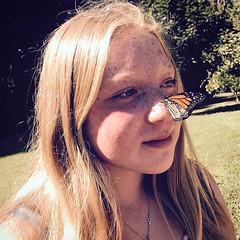 Divine presence (tlgvbzkx25) Tags: sweet kindsoul summer flutter butterfly daughter wildflower freckles muse