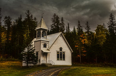 Old New England Chapel (EricaL.Young) Tags: fall autumn seasons maine northernmaine fallfoliagefoliage chapel church christian oldchapel wilsonmaine newengland