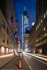 One Vanderbilt (20191103-DSC08424) (Michael.Lee.Pics.NYC) Tags: newyork onevanderbilt night twilight dusk bluehour lighttrail longexposure flags architecture cityscape skyscraper construction sony a7rm4 laowa12mmf28 magicshiftconverter
