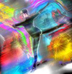 Streakin' (Paul B0udreau) Tags: bethrosengard dancer losangeles photomanipulation pose photoshop canada ontario paulboudreauphotography niagara layer photomatix blart digitalartfromablankcanvas mixedmedia