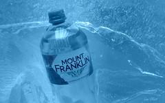 Spot the Pareidolia....BRAND and LOGOS......Macro Mondays (Lani Elliott) Tags: bottle water ice blue bokeh upclose closeup macrounlimited brand pareidolia face cool refreshing brandandlogos macromondays