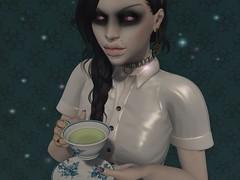"It's Just Tea, I Promise (Ruina ""Murmaider"" Kessel) Tags: nantra zibska soul lic spookshow magika alaskametro3 empire catwa maitreya psychobyts colescorner happydispatch we3roleplay theliaisoncollaborative"