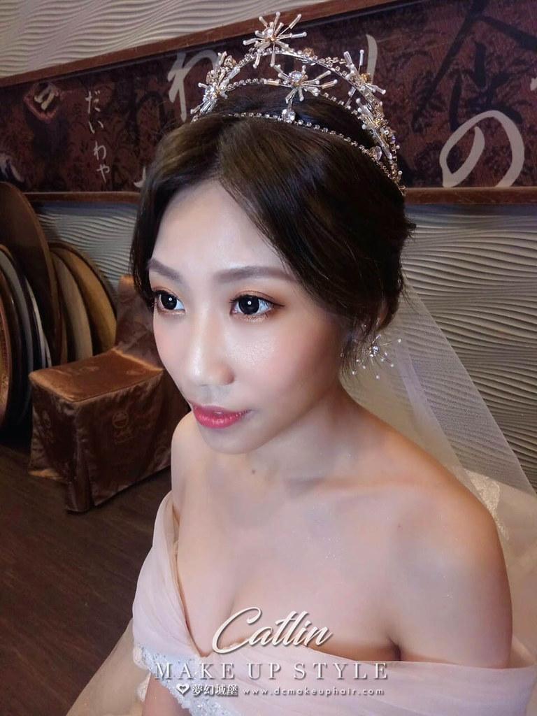 【新秘Catlin 】bride Abby 結婚造型 / 甜美公主,韓系優雅