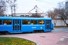 (Бесплатный фотобанк) Tags: россия москва осень городской транспорт трамвай маршрут3