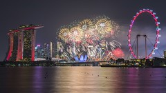 Singapore NDP Fireworks [Explored 4 Nov 2019] (yoosangchoo) Tags: singapore flyer sands bay marina fireworks day natioinal light night