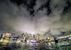 (Kylee Vincent Photography) Tags: new york nyc ny empire state kylee ulianokylee vincent skyline city scape skyscraper view water river dusk sunset evening night dark lights gold twinkle blue black yellow clouds brooklyn usa unitedstatesofamerica america art photography architecture buildings building history historic empirestate fall autumn vacation trip walk 2019 october oct manhattan icon iconic uliano reflection