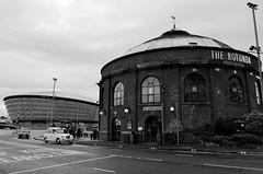 The Rotunda & SSE Hydro (Valantis Antoniades) Tags: the rotunda sse hydro black white monochrome architecture scotland glasgow